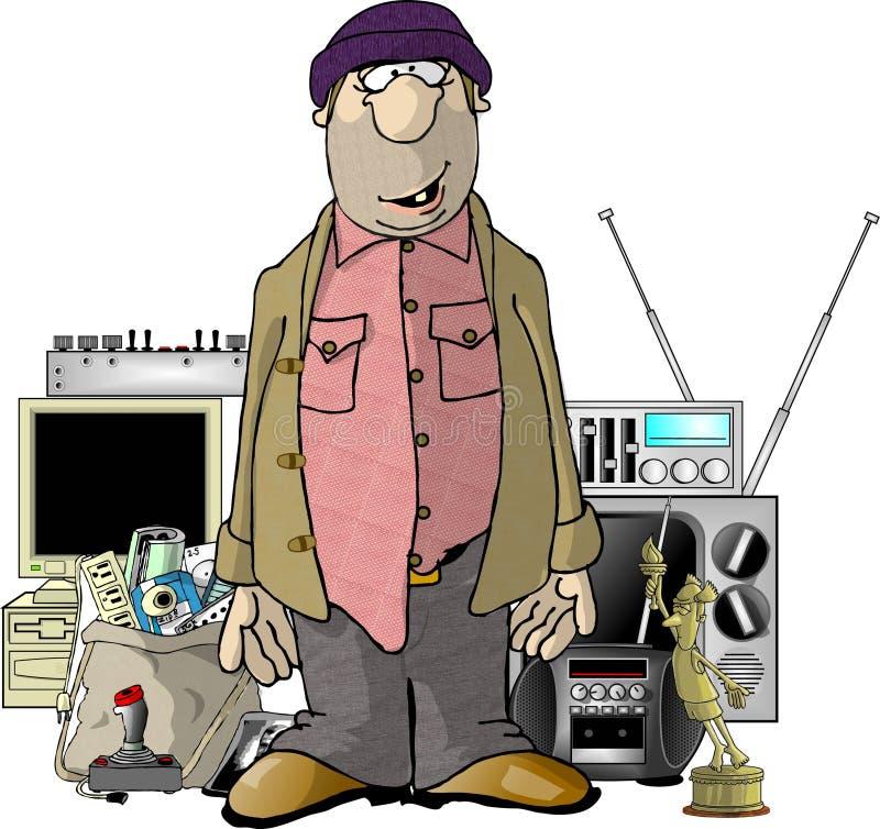 Bob the Burglar royalty free illustration