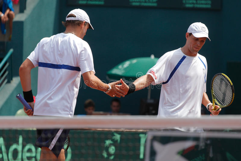 Bob e Mike Bryan immagine stock