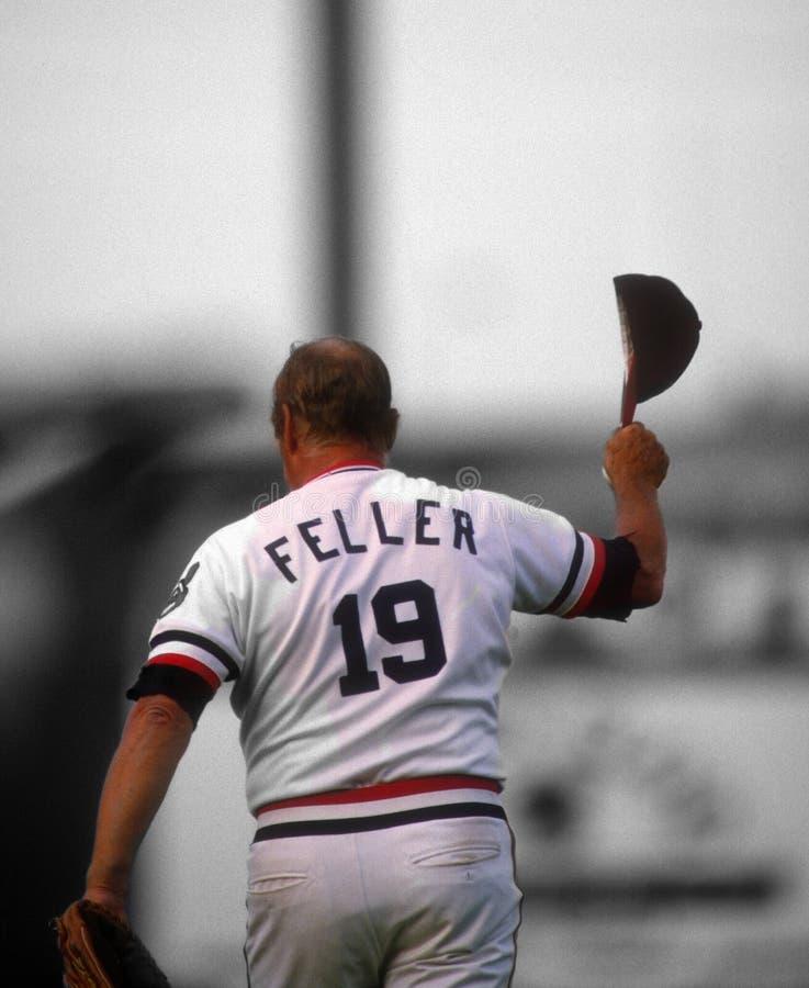 Bob Feller Cleveland Indians                   Los Angeles Dodgers fotografia de stock