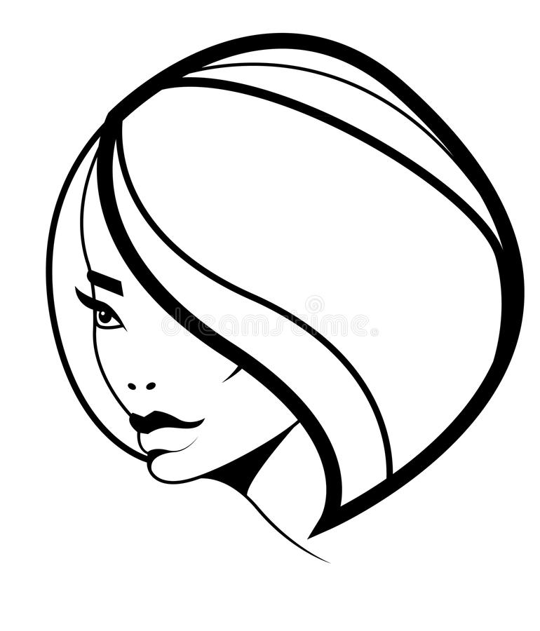 Free Bob Hairstyle Icon, Woman Model With Volume Hair Royalty Free Stock Photography - 19572507