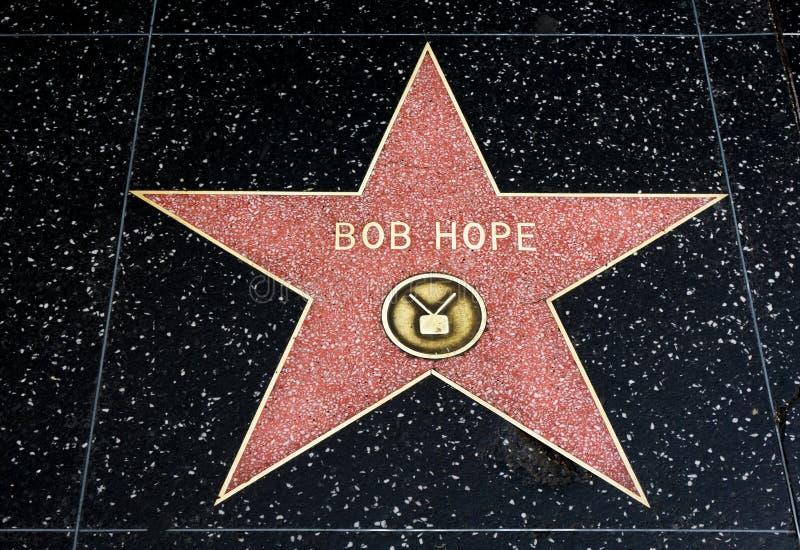 Bob Hope Star sur la promenade de Hollywood de la renommée images libres de droits