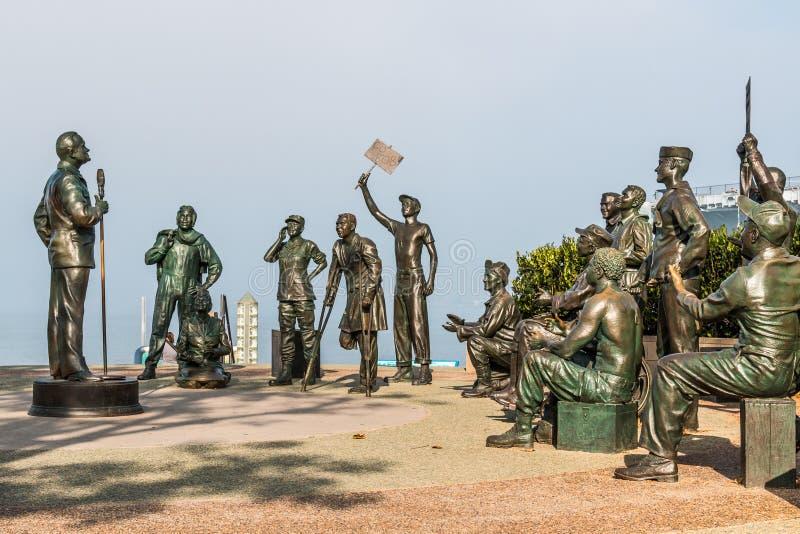 Bob Hope y el monumento militar, recordando sus viajes de BSG imágenes de archivo libres de regalías