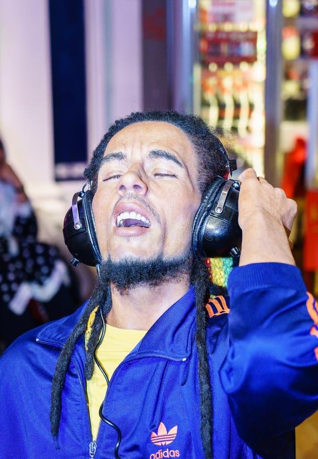 Bob Marley bij Mevrouw Tussaud s stock foto's