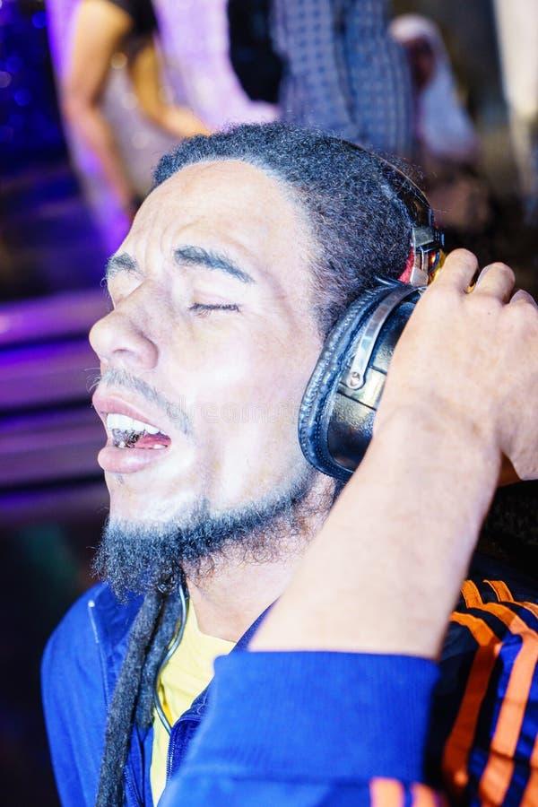 Bob Marley bij Mevrouw Tussauds stock foto's