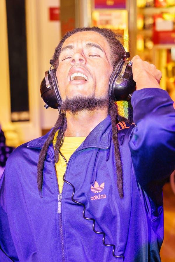 Bob Marley bij Mevrouw Tussauds stock afbeelding