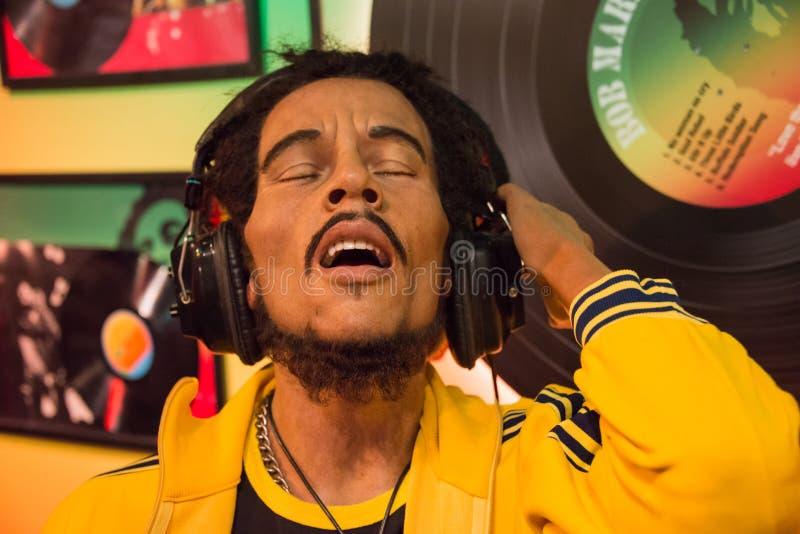 Bob Marley in het museum van Mevrouw Tussauds stock foto's