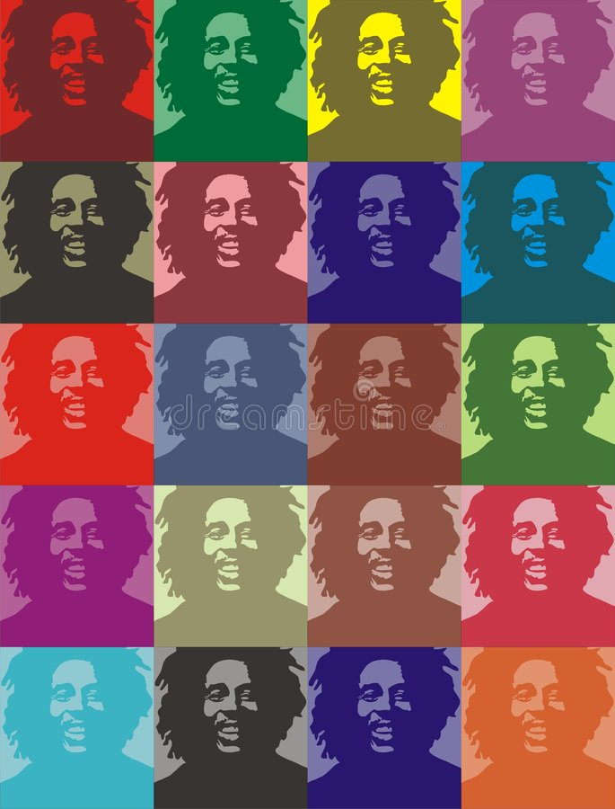 Free Bob Marley Portraits Royalty Free Stock Photography - 7422737
