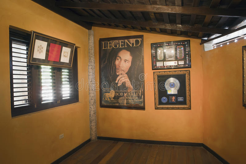 Bob Marley's museum stock photos