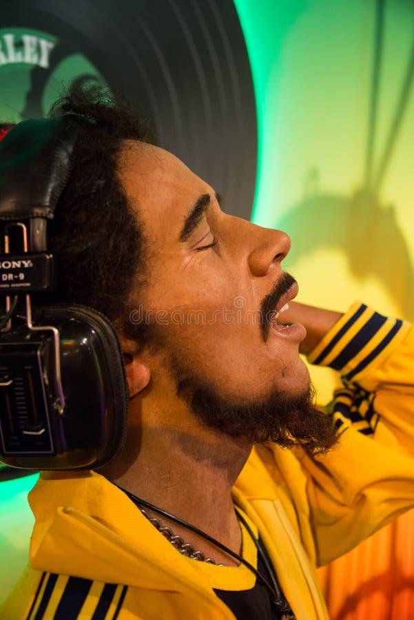 Bob Marley w muzeum Madame Tussauds fotografia royalty free