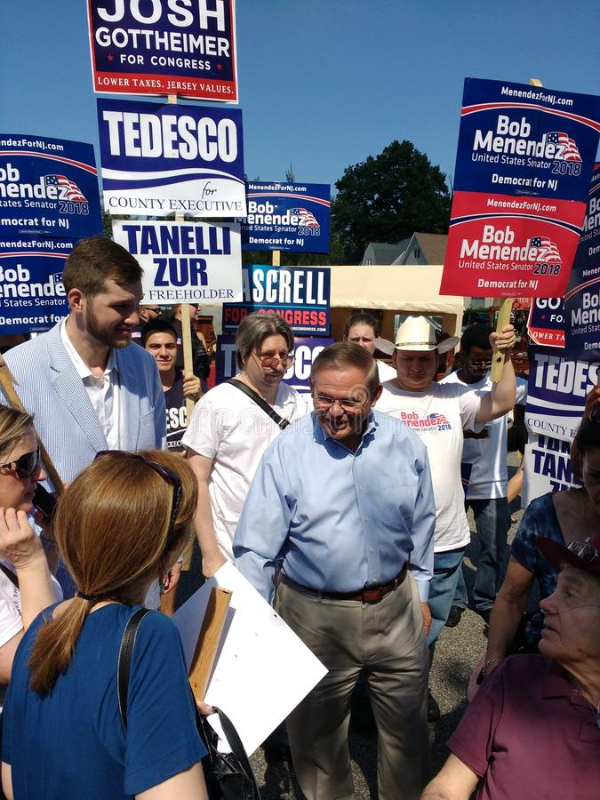 Robert Menendez, United States Senator from New Jersey, Bob Menendez, American Politician Campaigning stock images