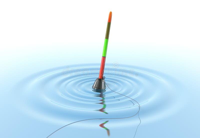 Bobber de pêche sur l'eau illustration de vecteur