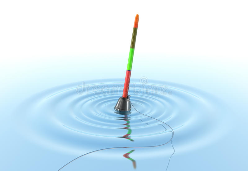 bobberfiskevatten vektor illustrationer
