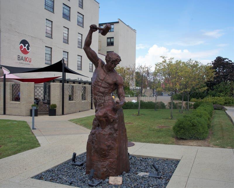 Self-Made Man Bronze Statue, St. Louis, Missouri royalty free stock photos