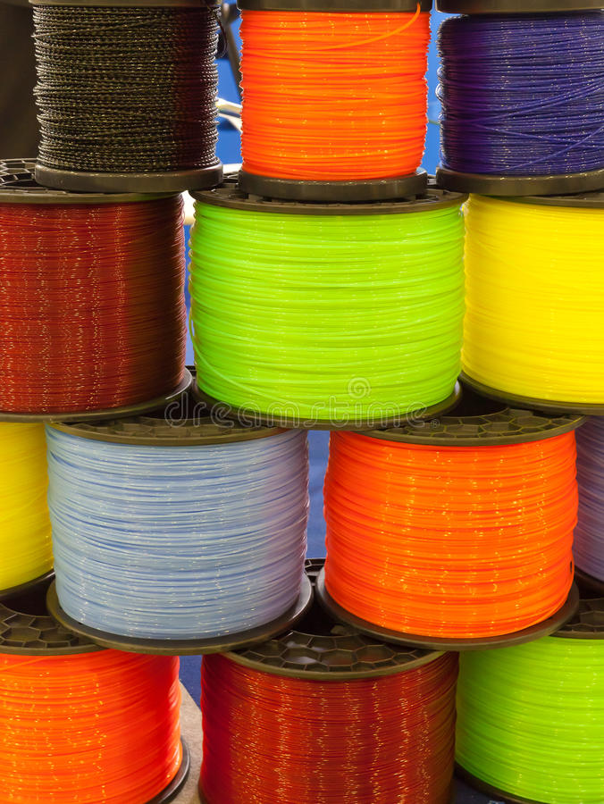 Download Bobbin with colors threads stock image. Image of thread - 23867421