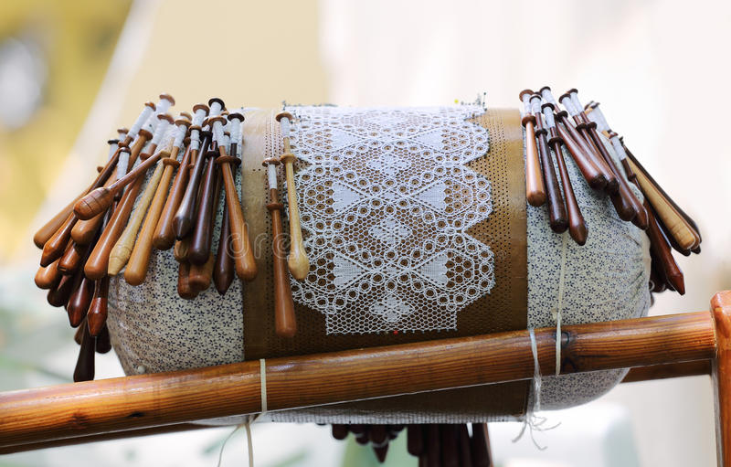 Bobbin Lace Equipment imagem de stock