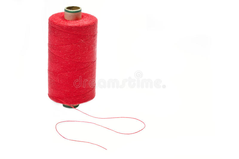 Download Bobbin of red thread stock image. Image of background - 23657311