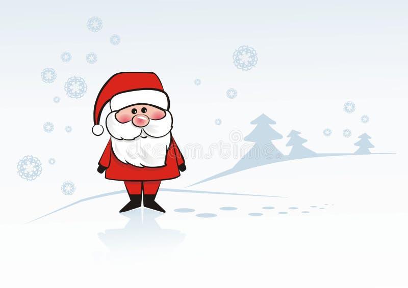 bobbish圣诞老人 向量例证