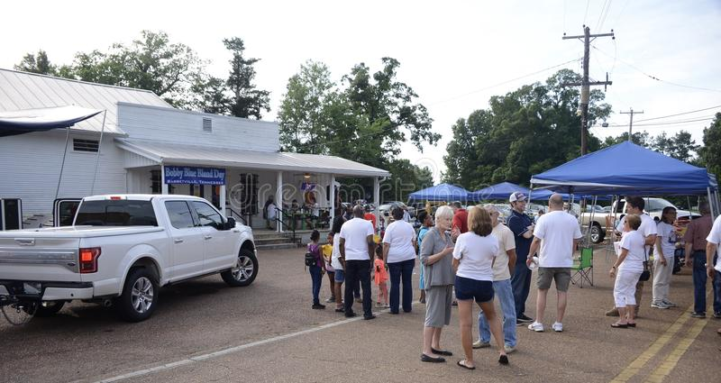 Bobby Blue Bland Blues Singer Day, Barretville, TN. People attend the annual Bobby Blue Bland Day in Barretville, TN, Calvin Bland known professionally as Bobby stock photography