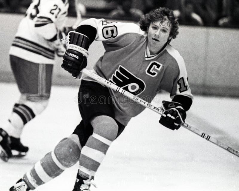 Bobby Clarke, Philadelphia Flyers. Philadelphia Flyers center Bobby Clarke #16. (Scanned from negative stock photo