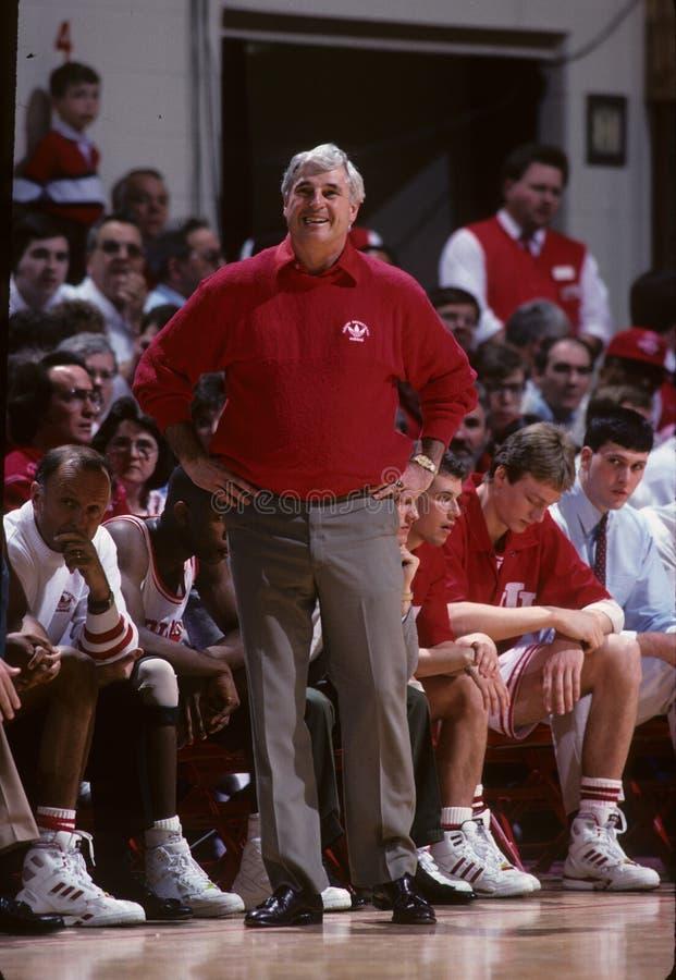 Bobby Knight Coach de Indiana Basketball Team foto de archivo