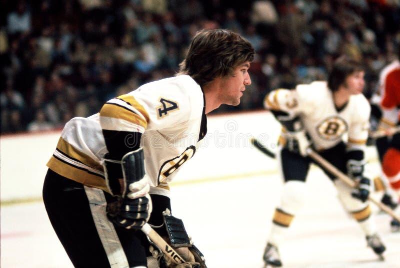 Bobby Orr Boston Bruins. NHL Hall of Fame Defenseman, Robert Gordon Orr royalty free stock photography