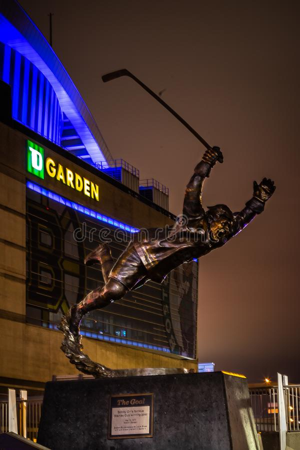 Bobby Orr Boston Garden fotografie stock libere da diritti