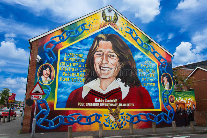 Bobby Sands Mural fotografía de archivo libre de regalías