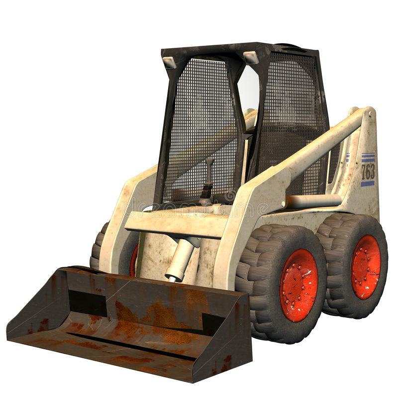 Bobcat bulldozer. A bobcat bulldozer .a small tractor like machine used for digging etc royalty free illustration