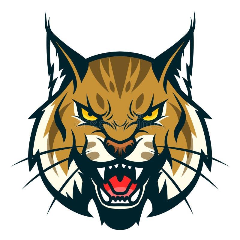 Bobcat head stock illustration