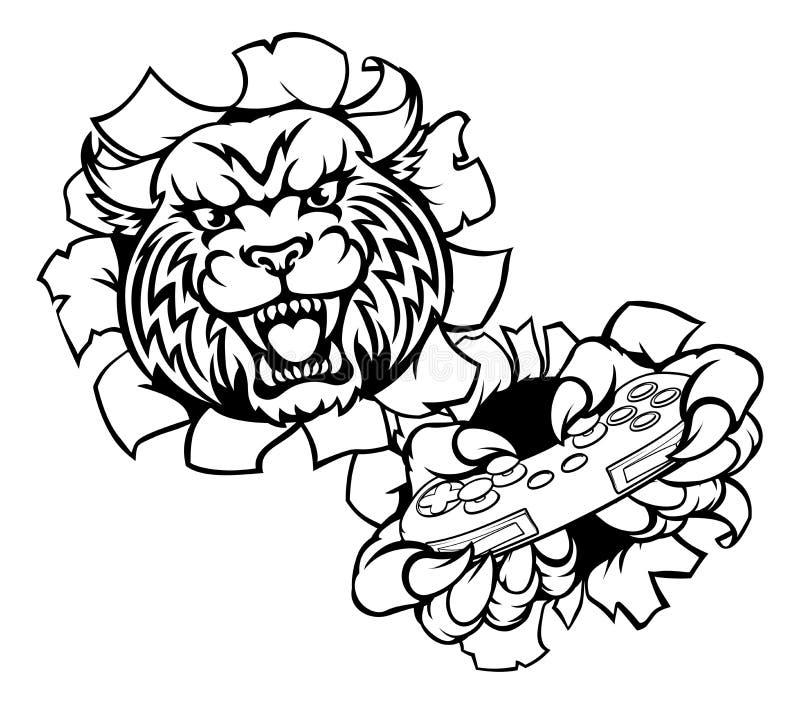 Bobcat Wildcat Esports Gamer Mascot ilustração do vetor