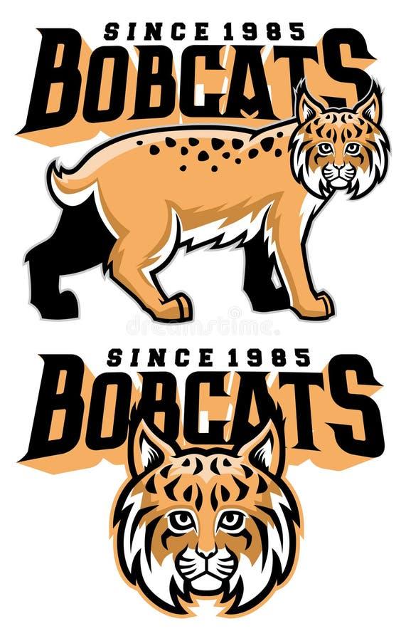 Bobcatmaskot royaltyfri illustrationer