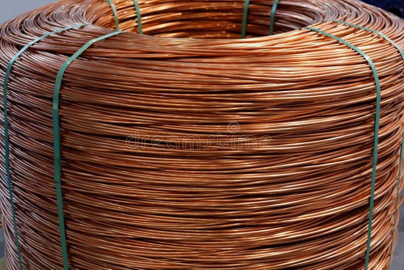 Bobina da haste de fio de cobre de 8 milímetros foto de stock royalty free