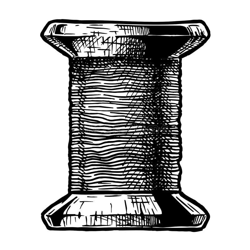 Bobina da linha de costura ilustração do vetor