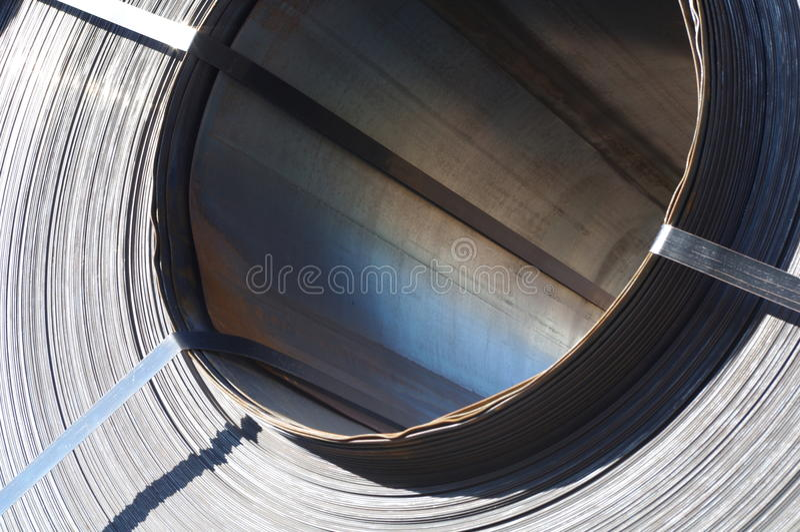 Bobina de aço fotografia de stock