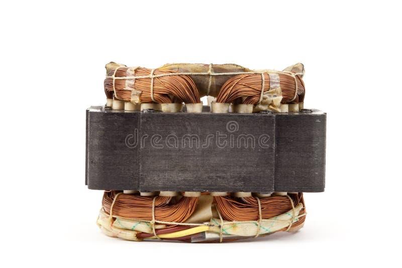 Bobina de cobre do motor elétrico fotos de stock royalty free