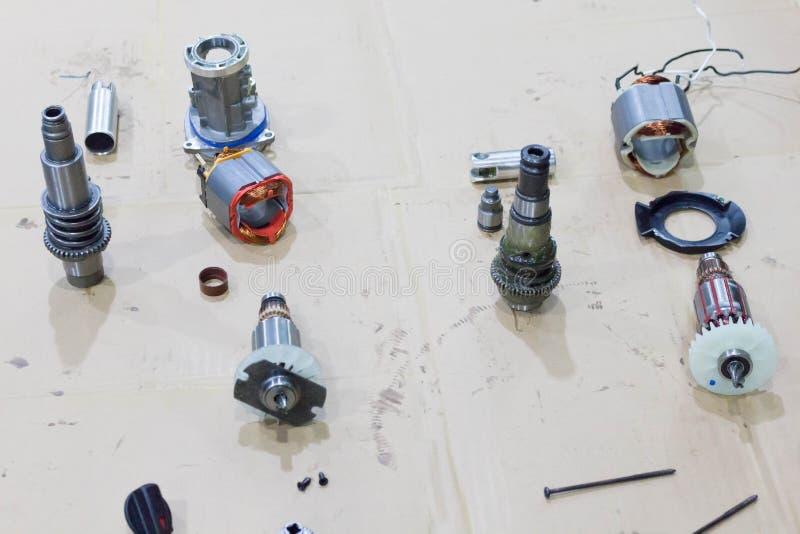Bobina de cobre do motor elétrico fotos de stock