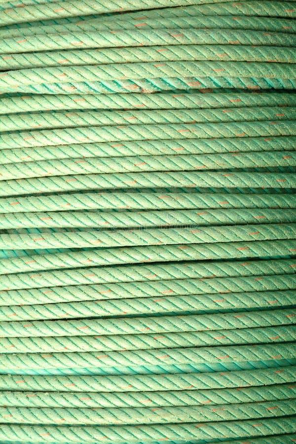 Bobina de cordas verdes imagem de stock royalty free