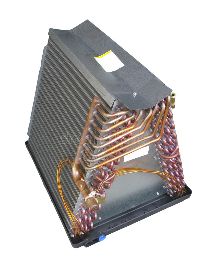 Bobina de evaporador do condicionador de ar foto de stock