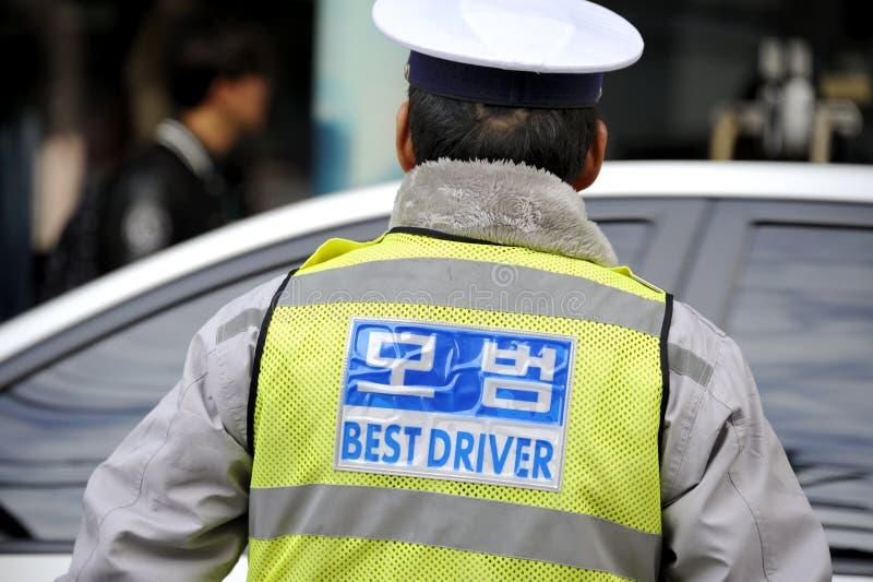 Bobina de tráfego em Coreia do Sul fotografia de stock