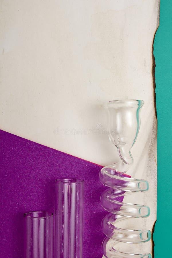 Bobina de vidro do laboratório fotos de stock