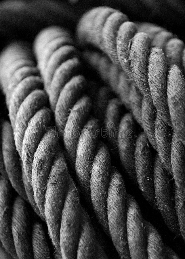 Bobina della corda fotografia stock libera da diritti