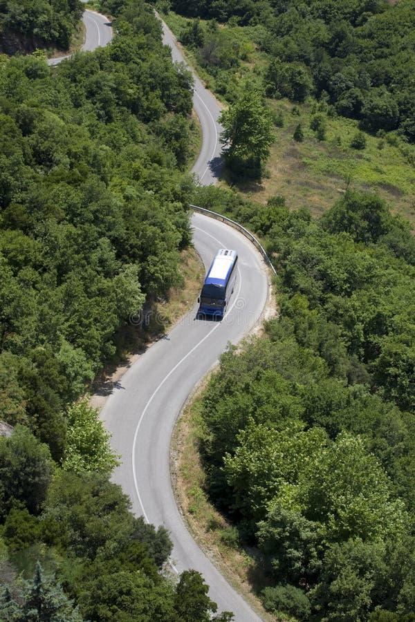 bobina della strada del bus immagini stock libere da diritti