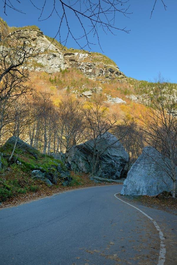 Bobina della strada principale attraverso il Vermont fotografia stock libera da diritti
