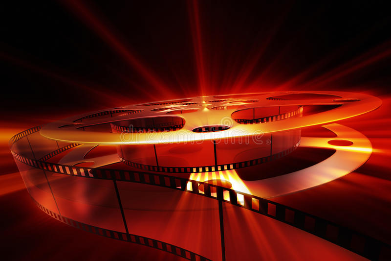 Bobina di film con lustro royalty illustrazione gratis