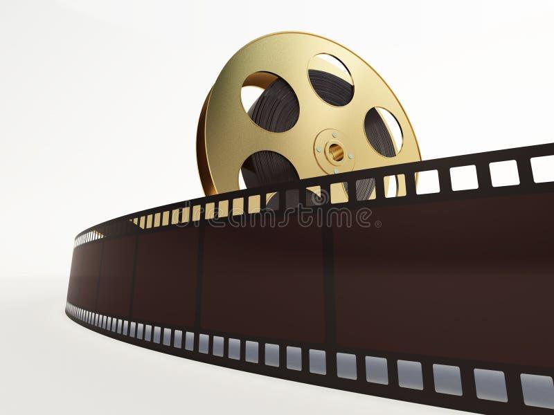Bobina di film con una striscia di pellicola illustrazione vettoriale