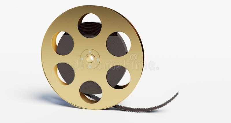 Bobina di film con una striscia di pellicola immagine stock