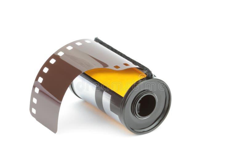 bobina di film della foto di 35mm, isolata su fondo bianco fotografie stock libere da diritti