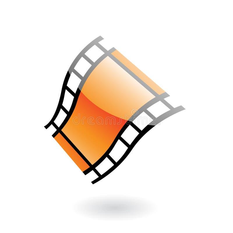 bobina di pellicola 3d illustrazione vettoriale