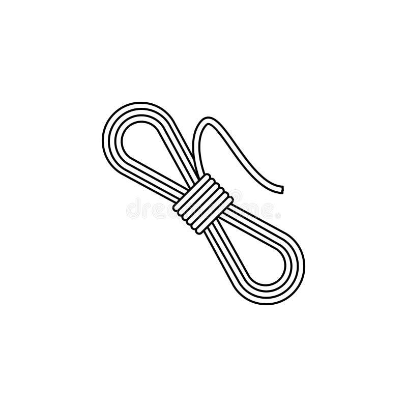 bobina do ícone da corda Elemento do acampamento e da recreação exterior para apps móveis do conceito e da Web Linha fina ícone p ilustração do vetor