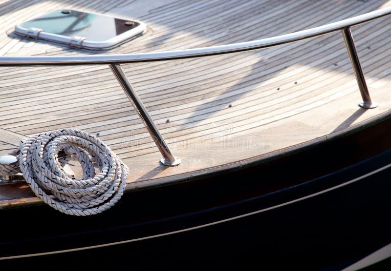 Bobina do detalhe marinho da corda fotografia de stock royalty free